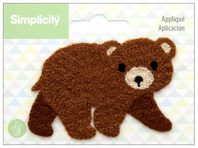 Simplicity Applique Sew On Bear
