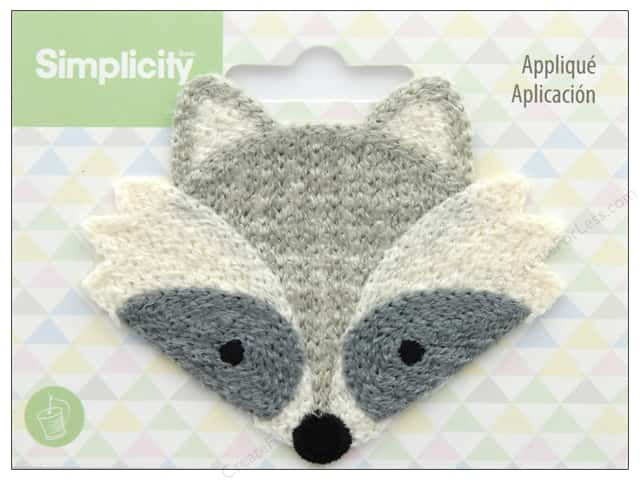 Simplicity Applique Sew On Raccoon
