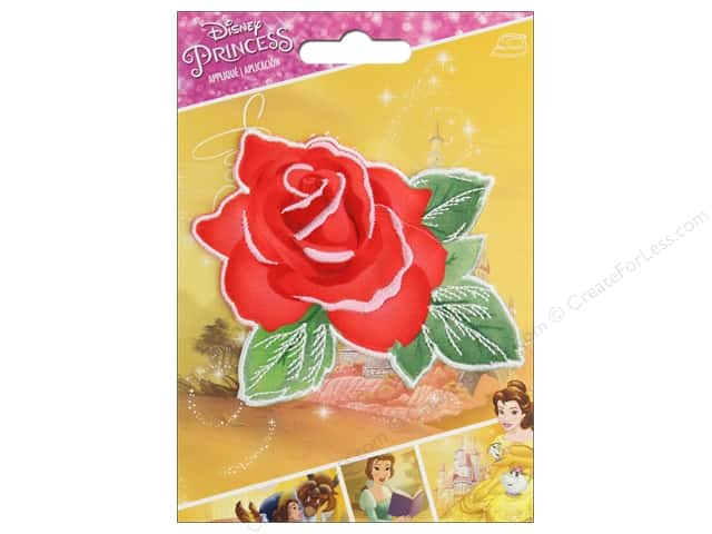 Simplicity Applique Disney Iron On Beauty And The Beast Rose