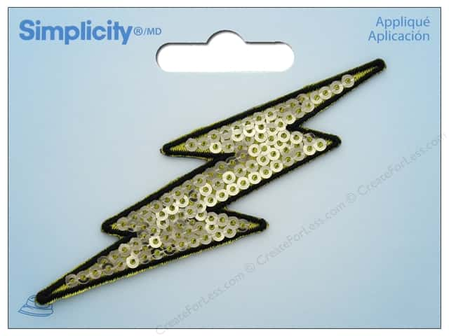 Simplicity Applique Iron On Sequin Lightning