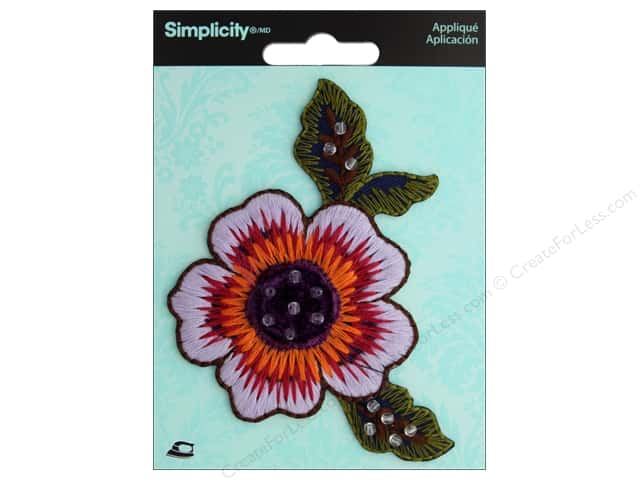 Simplicity Applique Iron On Embroidered Flower