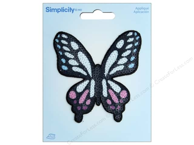 Simplicity Applique Iron On Sequin Butterfly
