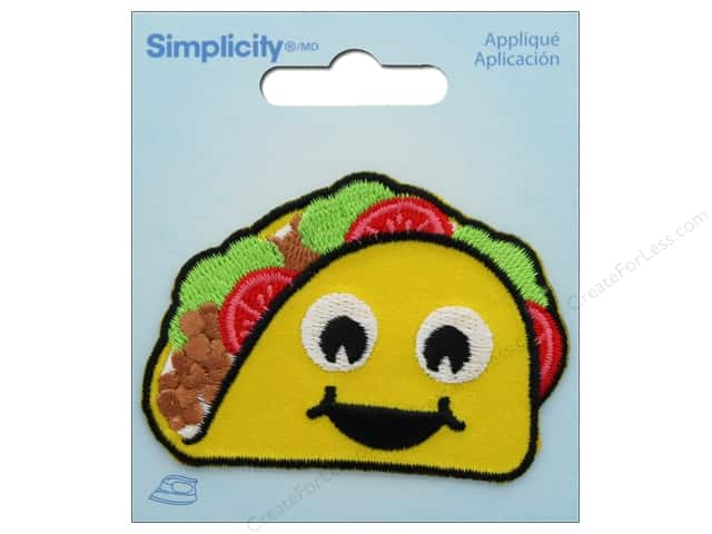 Simplicity Applique Iron On Emoji Taco