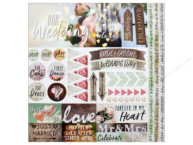 Reminisce Modern Wedding Sticker 12 in. x 12 in.