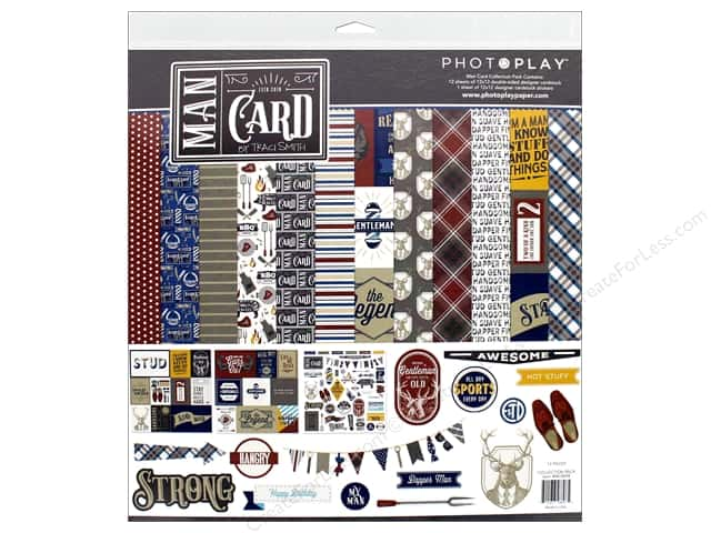Photo Play Collection Man Card Collection Pack  12 in. x 12 in.