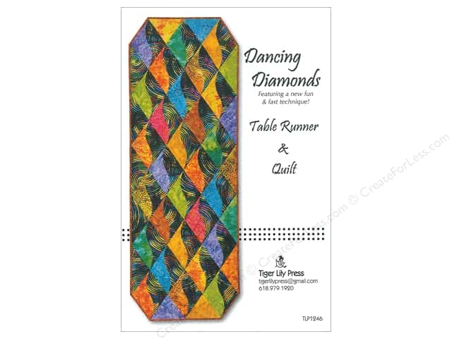Tiger Lily Press Dancing Diamonds Table Runner And Quilt Pattern