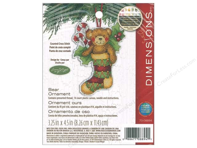 Dimensions Counted Cross Stitch Kit Susan Winget Bear Ornament