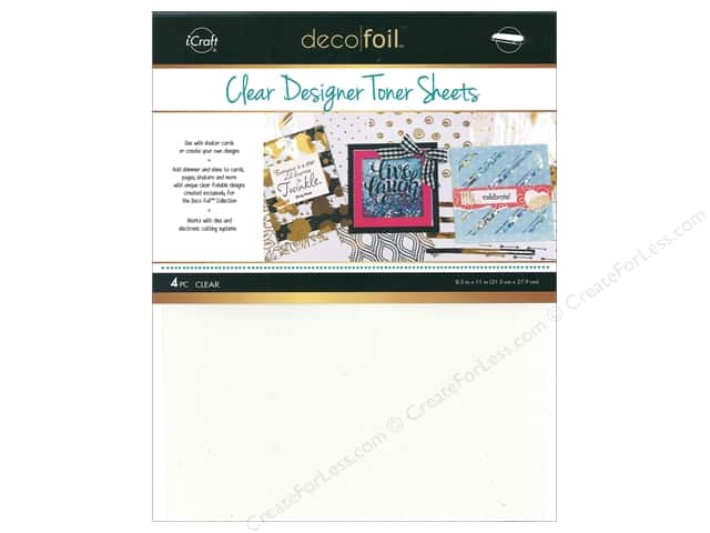 iCraft Deco Foil Toner Sheet Printable Clear 4 pc