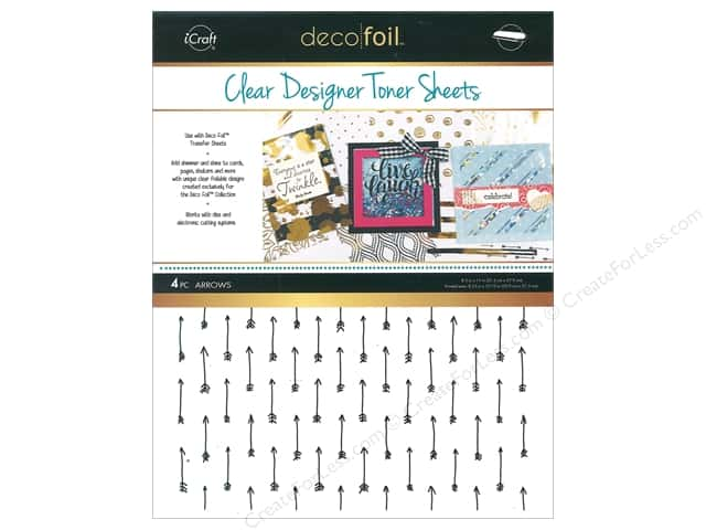 iCraft Deco Foil Toner Sheet Designer Clear Arrow 4 pc