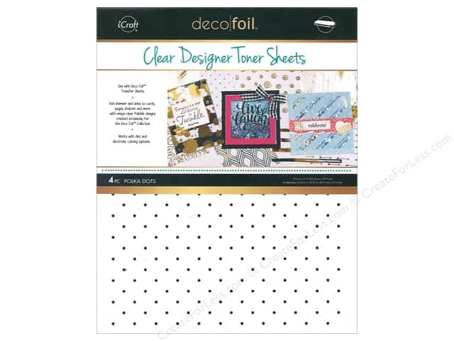 iCraft Deco Foil Toner Sheet Designer Clear Polka Dot 4 pc