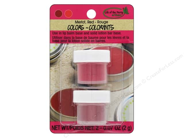 Life Of The Party Lip Balm Color 2 pc Mica Merlot/Red