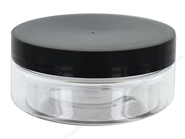 Life Of The Party Plastic Jar Black Lid 4oz Clear (3 sets)