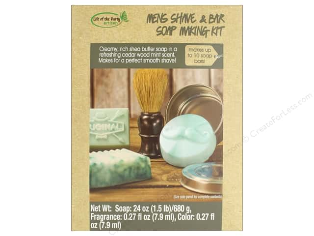 Life Of The Party Soap Making Kit Men's Shave & Bar Soap