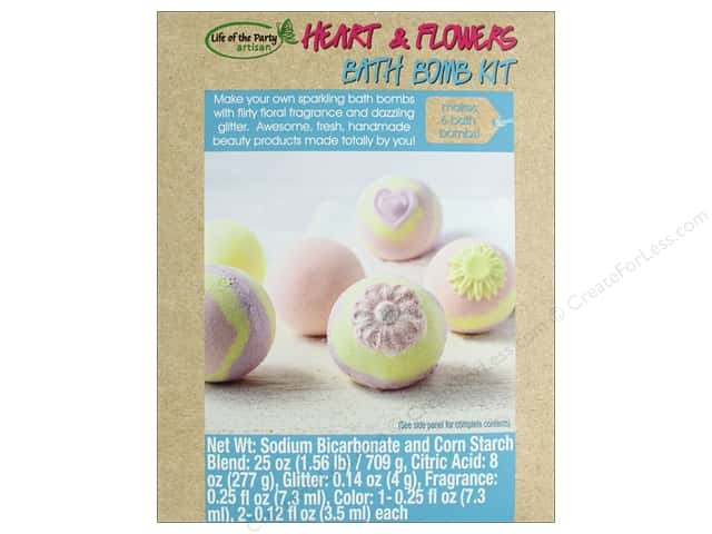 Life Of The Party Kit Bath Bomb Hearts And Flowers