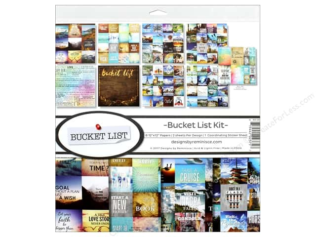 Reminisce Collection Bucket List Collection Kit