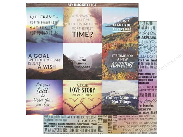 Reminisce Collection Bucket List Paper 12 in. x 12 in. YOLO (25 pieces)