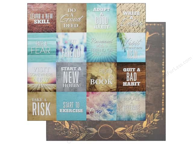 Reminisce Collection Bucket List Paper 12 in. x 12 in. Seize The Day (25 pieces)