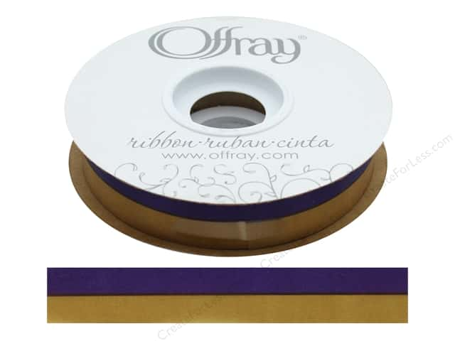 Offray Ribbon Acetate Spirit 7/8 in. Purple/Gold