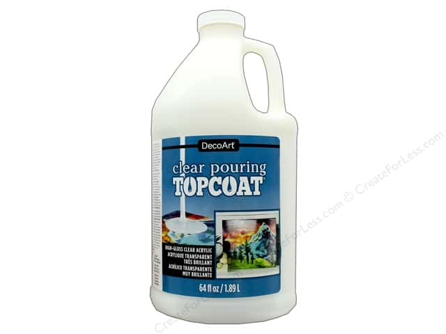 DecoArt Clear Pouring Topcoat 64 oz.
