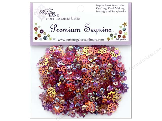 Buttons Galore 28 Lilac Lane Premium Sequins Plum