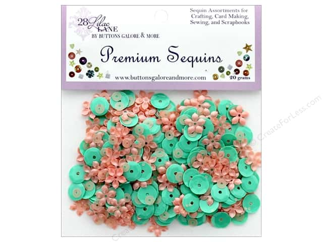 Buttons Galore 28 Lilac Lane Premium Sequins Blossom