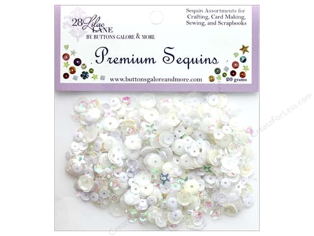 Buttons Galore 28 Lilac Lane Premium Sequins Marshmallow