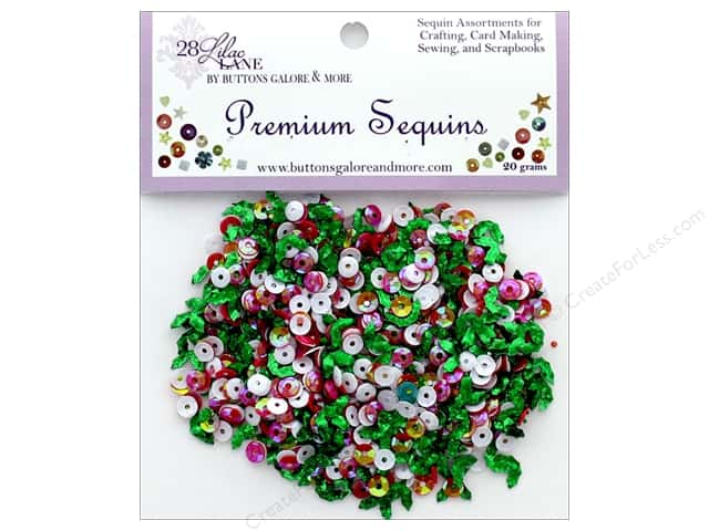 Buttons Galore 28 Lilac Lane Premium Sequins Holly