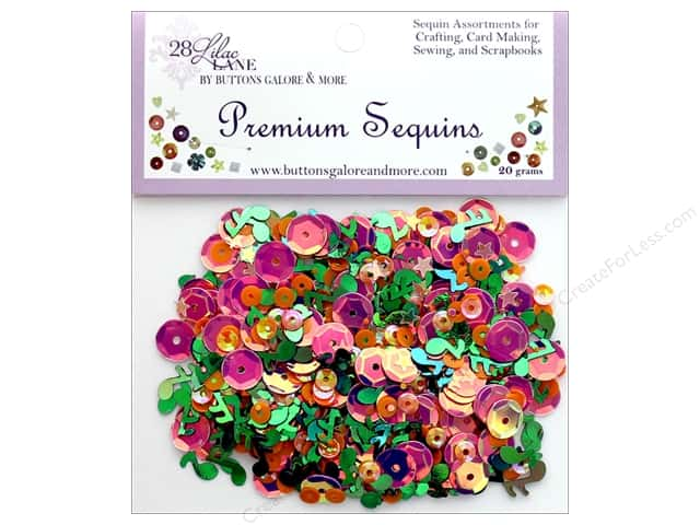 Buttons Galore 28 Lilac Lane Premium Sequins Pop