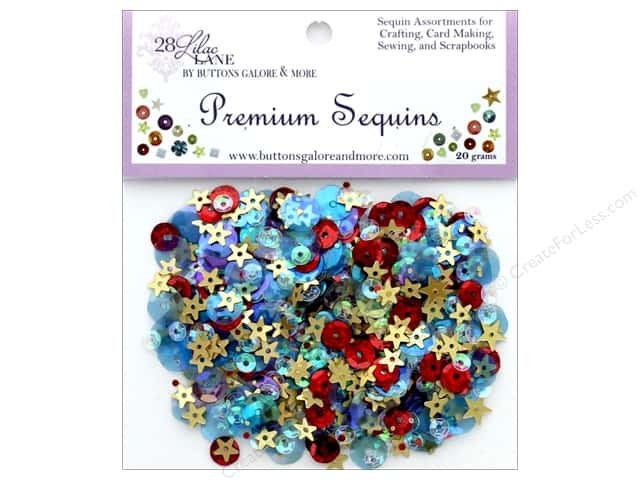 Buttons Galore 28 Lilac Lane Premium Sequins Picnic