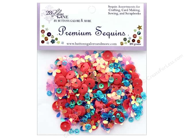 Buttons Galore 28 Lilac Lane Premium Sequins Surf