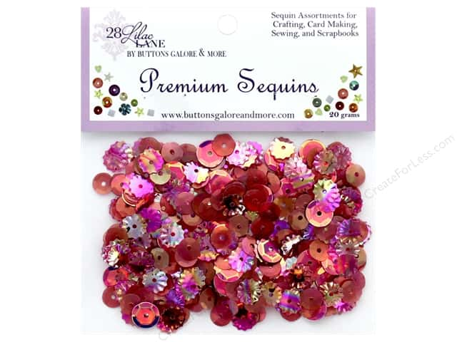 Buttons Galore 28 Lilac Lane Premium Sequins Wine