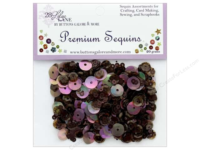 Buttons Galore 28 Lilac Lane Premium Sequins Coffee