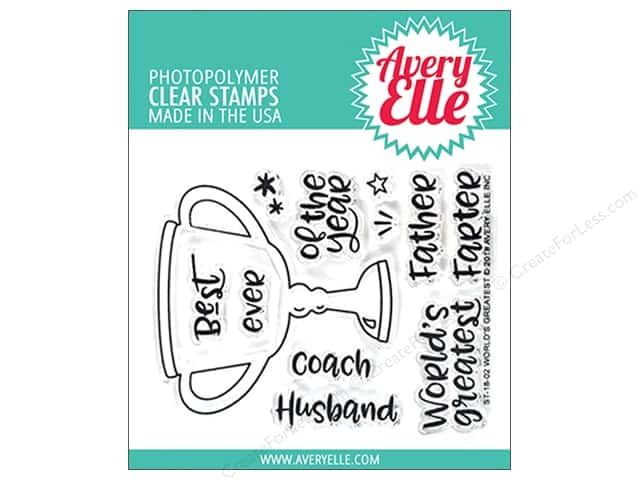 Avery Elle Clear Stamp World's Greatest