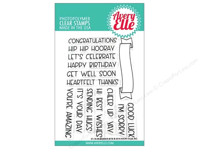 Avery Elle Clear Stamp Banner Bits