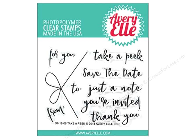 Avery Elle Clear Stamp Take A Peek