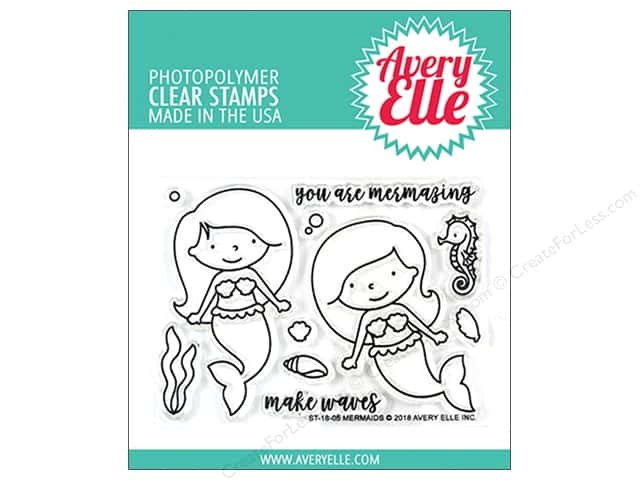 Avery Elle Clear Stamp Mermaids