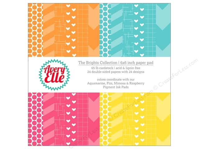 Avery Elle Paper Pad 6 in. x 6 in. Printed Collection Brights