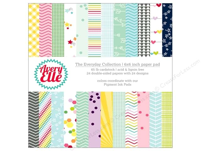 Avery Elle Paper Pad 6 in. x 6 in.  Printed Collection Everyday