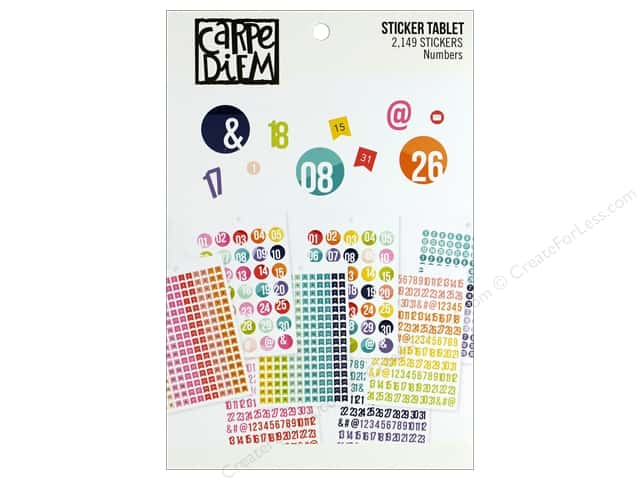 Simple Stories Collection Carpe Diem A5 Sticker Numbers