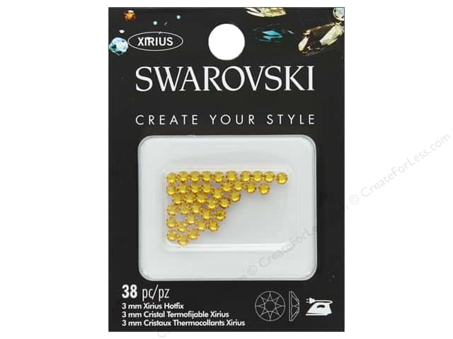 Cousin Swarovski Hotfix 3 mm Sunflower 38 pc
