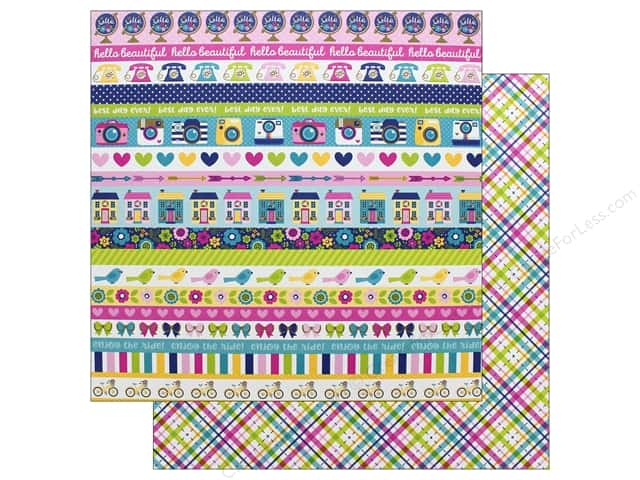 Doodlebug Collection Hello Paper 12 in. x 12 in. Poppy Plaid (25 pieces)