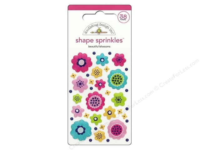 Doodlebug Collection Hello Sprinkles Shape Beautiful Blossoms