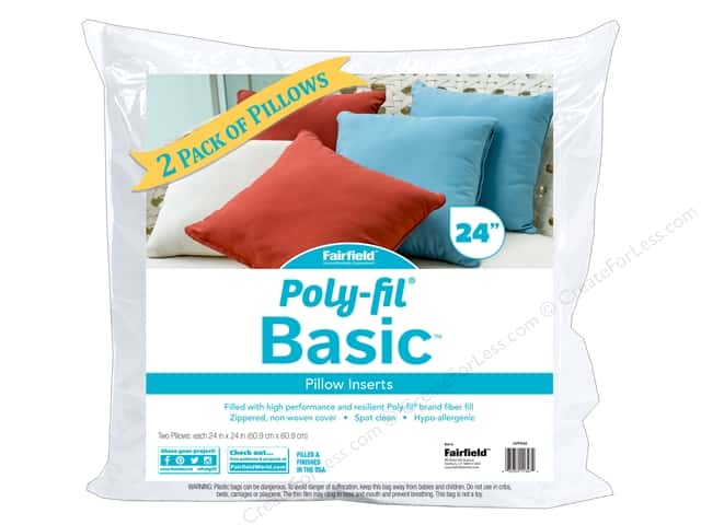 Fairfield Pillow Form Basic Insert 24 in. x 24 in. 2 pc.
