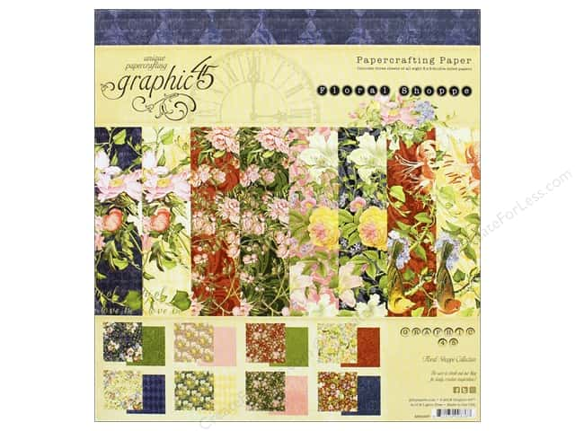 Graphic 45 8 x 8 in. Paper Pad Floral Shoppe