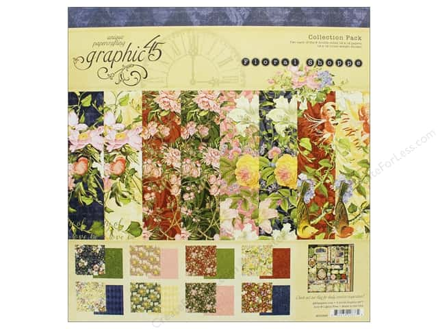 Graphic 45 Collection Floral Shoppe Collection Pack  12 in. x 12 in.