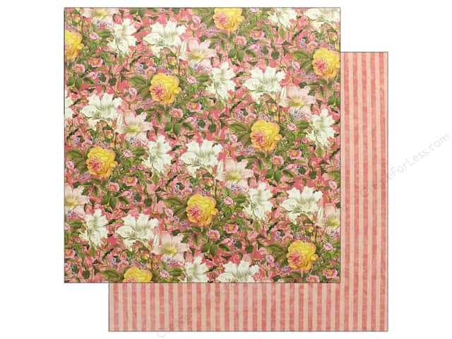 Graphic 45 Collection Floral Shoppe Paper  12 in. x 12 in. Pink Lilies (25 pieces)