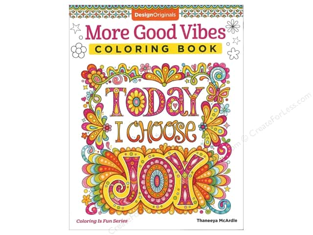Design Originals More Good Vibes Coloring Book
