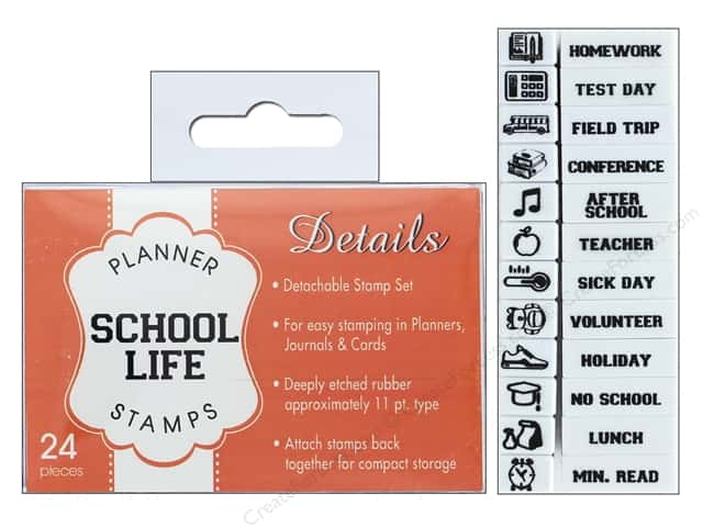 Contact USA Clickable Stamp Set Planner Details School Life 24pc