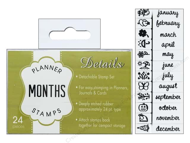 Contact USA Clickable Stamp Set Planner Details Months 24 pc