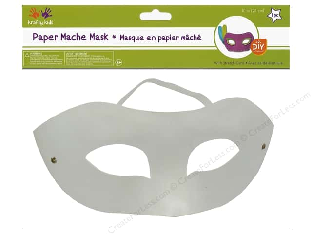 Multicraft Krafty Kids DIY Paper Mache Mask With Band